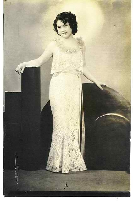 From Of Another Fashion: 'We found this when we were going through my grandma's photos (after she passed away on April 29, 2012 at the age of 98). It's taken in Los Angeles. I forgot about this photo but it's one of my favorites. It was taken in the 1930s and the dress was likely made by my grandma, like a lot of her clothes.Submitted by Cheryl Motoyama (Santa Ana, California).'
